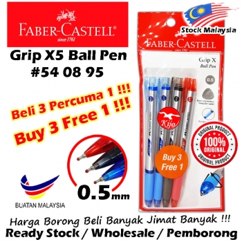 Faber-Castell Grip X Ball Pen Buy3Free1 Value Pack