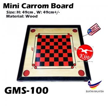 Mini 2in1 Carrom Board / Papan Carrom Board Karambol GMS-100