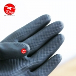 Elephant Black Heavy Duty Industry Rubber Glove 9028