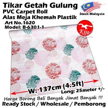 Alas lantai / Tikar Getah Gulung / PVC Carpet Roll / Alas Meja Khemah Plastik 1620 B-6301-1