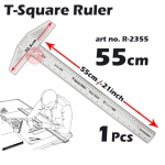 KIJO Transparent Acrylic Double Side T Square Ruler #2355