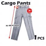 【Grey】Worker Cotton Cargo Pants / Seluar Kerja Kargo #6080