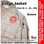 【Brown】Industrial Cargo Jacket Workwear Worker Jacket #7001 #Cargo #Jacket #5-Pocket