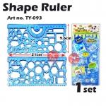 Multi Shape Design Ruler #TY-093