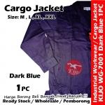【Dark Blue】Industrial Cargo Jacket Workwear Worker Jacket #7001 #Cargo #Jacket #5-Pocket