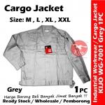 【Grey】Industrial Cargo Jacket Workwear Worker Jacket #7001 #Cargo #Jacket #5-Pocket