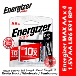 Energizer Max Battery AA / 2A E91 BP-4 9637