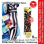 Tattoo Glove Sun Protective Arm Sleeve Pelindung Matahari Tatu Kurus Lengan #2503