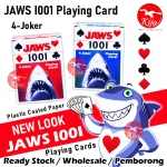 Jaws 1001 Plastic Coated Paper Playing Card 4-JOKER CASINO #1001 #JAWS