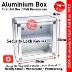 Transparent Aluminium First Aid Box Security Lock Key / Peti Kecemasan / 透明铝药箱收纳盒 #First #Aid #Peti #Kecemasan #药箱收纳盒 #2504