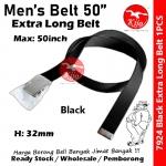Extra Long Nylon School Student Belt / Tali Pinggang Sekolah / 尼龙学校学生裤带 #Nylon #Student #Belt #7924 #50inch #Black