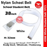Nylon School Student Belt / Tali Pinggang Sekolah / 尼龙学校学生裤带 #Nylon #Student #Belt #4386 #38inch #White