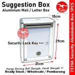 Aluminum Suggestion Box Mail Letter Box Security Lock Key / Peti Surat Cadangan / 铝信箱意见箱 #Suggestion #Box #Peti #Surat #7370A