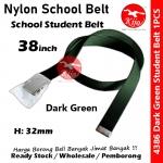 Nylon School Student Belt / Tali Pinggang Sekolah / 尼龙学校学生裤带 #Nylon #Student #Belt #4386 #38inch #Green