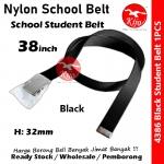 Nylon School Student Belt / Tali Pinggang Sekolah / 尼龙学校学生裤带 #Nylon #Student #Belt #4386 #38inch #Black
