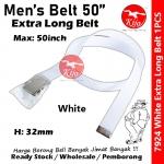 Extra Long Nylon School Student Belt / Tali Pinggang Sekolah / 尼龙学校学生裤带 #Nylon #Student #Belt #7924 #50inch #White