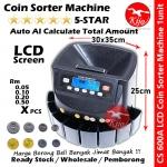 LCD Screen Ringgit Syiling Sen Coin Sorter Machine / Mesin Automatic Kira Duit Syiling / 马币硬币分算机 #Coin #Sorter #Duit #Syiling #Kira #CS600A #CS-600A
