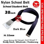 Nylon School Student Belt / Tali Pinggang Sekolah / 尼龙学校学生裤带 #Nylon #Student #Belt #4386 #38inch #Blue