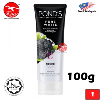 POND'S Facial Foam Pure White Pollution D-TOXX Facial Foam 100g #POND'S #Institute #JAPAN #Facial #Foam #Face #Clean #Wa