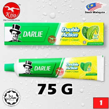 Darlie Toothpaste Double Action Fresh Clean Original Strong Mint Fluoride Toothpaste Natural Mint Essence 75G #Darlie #T