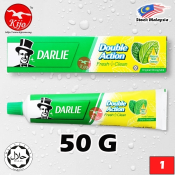 Darlie Toothpaste Double Action Fresh Clean Original Strong Mint Fluoride Toothpaste Natural Mint Essence 50G #Darlie #T