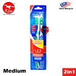 Oral-B Classic UltraClean 123 Clean All Rounder 3 Way Clean 2in1 Value Set Medium #Oral-B #Classic #UltraClean #123