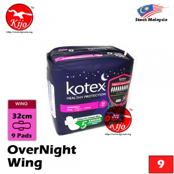 Kotex OVERNIGHT Wing 9 Pads 32cm #Kotex #Overnight #Wing #32cm #9Pads