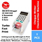 15-Digits Cheque Writer / Electronic Checkwriter Turbo Fast Printer LED Light Setting Lock #RM #SGD #USD #EURO #¥ #Print #9288