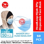 HeadLoop Hijab Disposable Face Mask / 3-Ply Adult Hijab Masker Topeng Penutup Mulut & Hidung Pelitup Muka #HeadLoop #2131