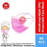 HeadLoop Hijab Disposable Face Mask / 3-Ply Adult Hijab Masker Topeng Penutup Mulut & Hidung Pelitup Muka #HeadLoop #2131