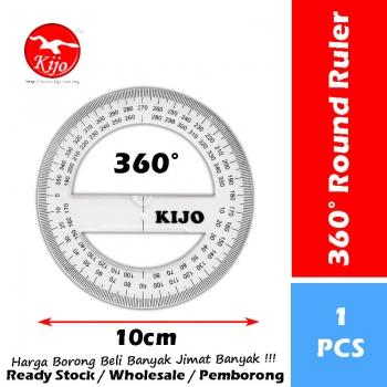 360° Round Ruler / 360 Degree Round Ruler / 360 Protractor Ruler Measuring Angle / Pembaris Bulat 360° / 360度测量圆尺 #8660