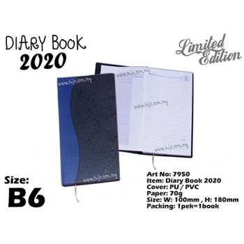 7950 Diary Book 2020 - B6 - Blue