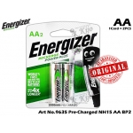9635 Energizer Recharge Power Plus NH15 AA BP2