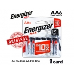 Energizer Max Battery AA E91 BP-6 9364